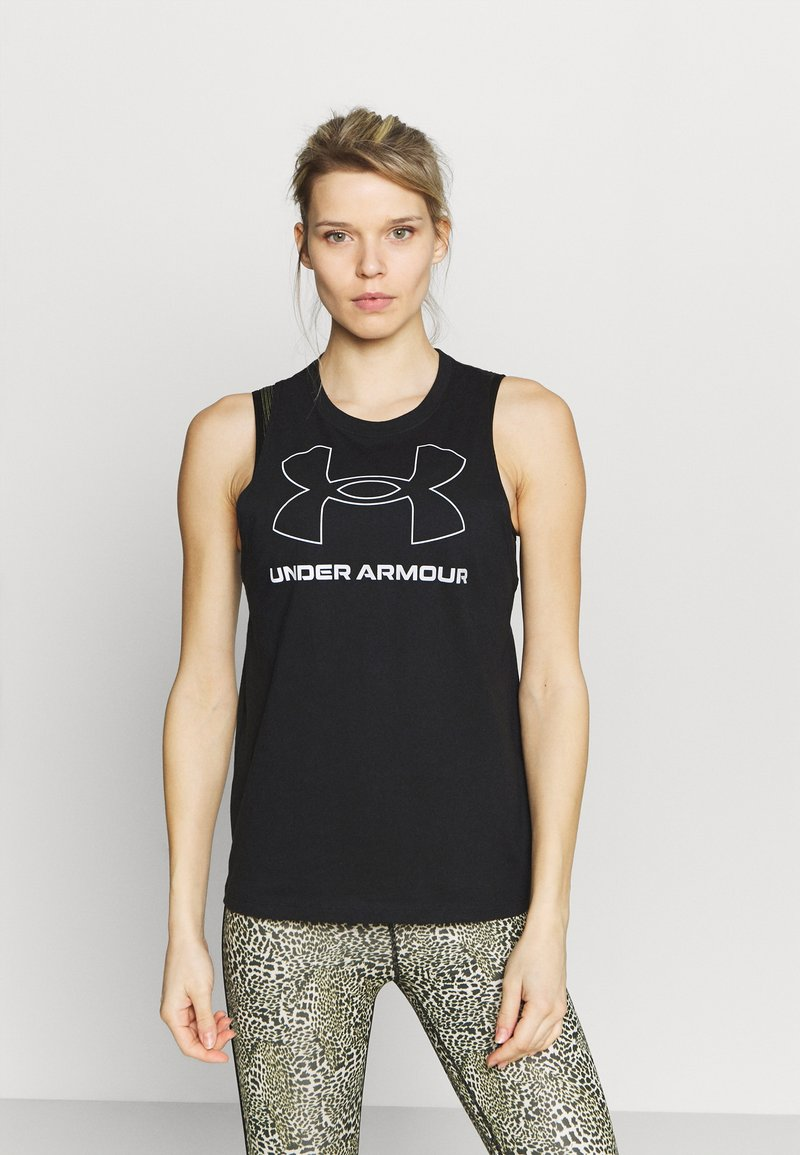 Under Armour - SPORTSTYLE GRAPHIC TANK - Treningsskjorter - black