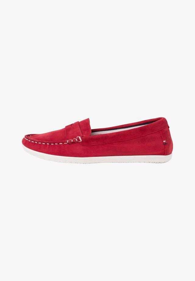 Nazouvací boty - red