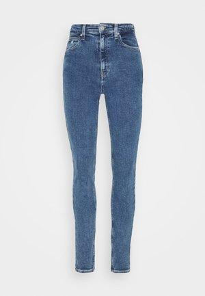 HIGH RISE SKINNY - Skinny džíny - blue