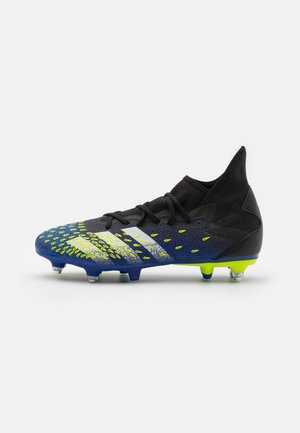 PREDATOR FREAK .3 SG - Screw-in stud football boots - core black/footwear white/solar yellow