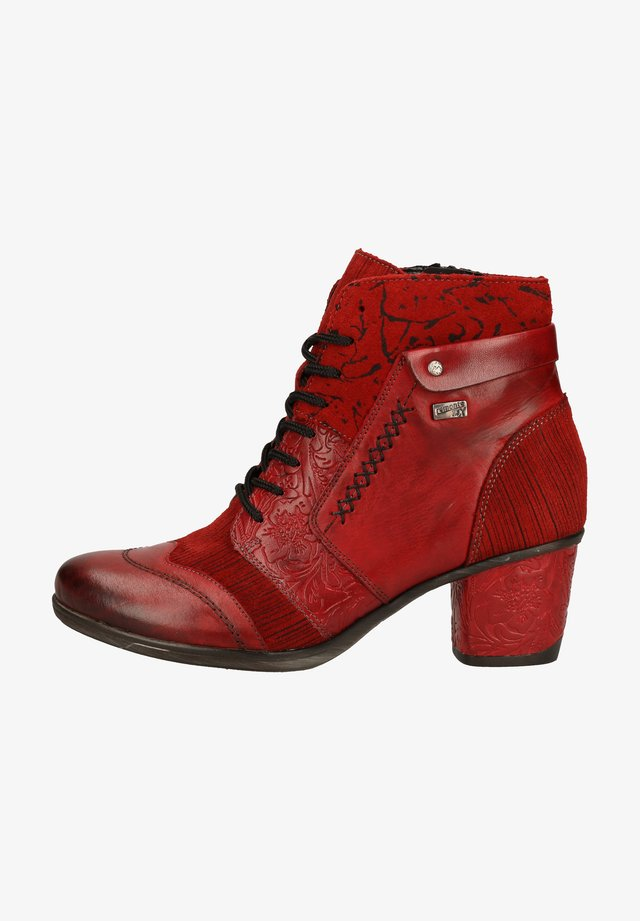 Ankle boots - mohn/schwarz / 35