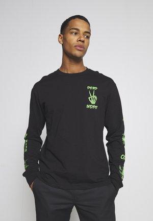 JORDARK TEE CREW NECK - Long sleeved top - black
