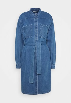 FELINE - Denim dress - mid blue