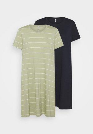 ONLMAY LIFE POCKET DRESS 2 PACK - Žerzejové šaty - night sky/desert sage