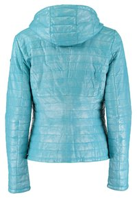 DNR Jackets - MIT KAPUZE - Leather jacket - turquoise - 1