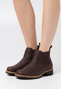 ECCO - ELAINE - Ankle boots - dark brown - 0