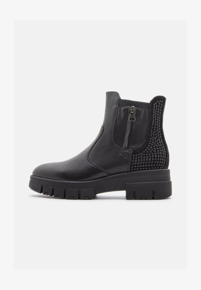 GUANTO VELOURS - Ankle boots - nero