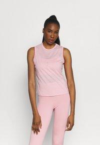 Nike Performance - CROCHET TANK - Funktionsshirt - pink glaze/canyon rust/rust pink - 0