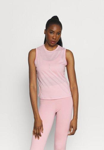 CROCHET TANK - T-shirt sportiva - pink glaze/canyon rust/rust pink