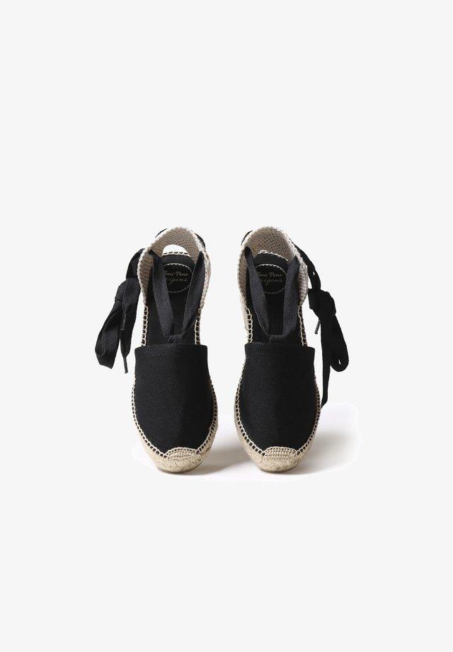 VALENCIA - Sandalias de cuña - black
