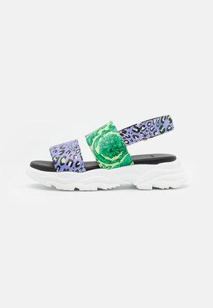 Sandals - jacaranda/mint/gold