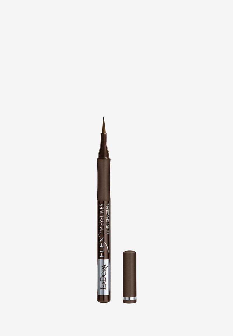 IsaDora - FLEX TIP EYELINER - Eyeliner - hot chocolate
