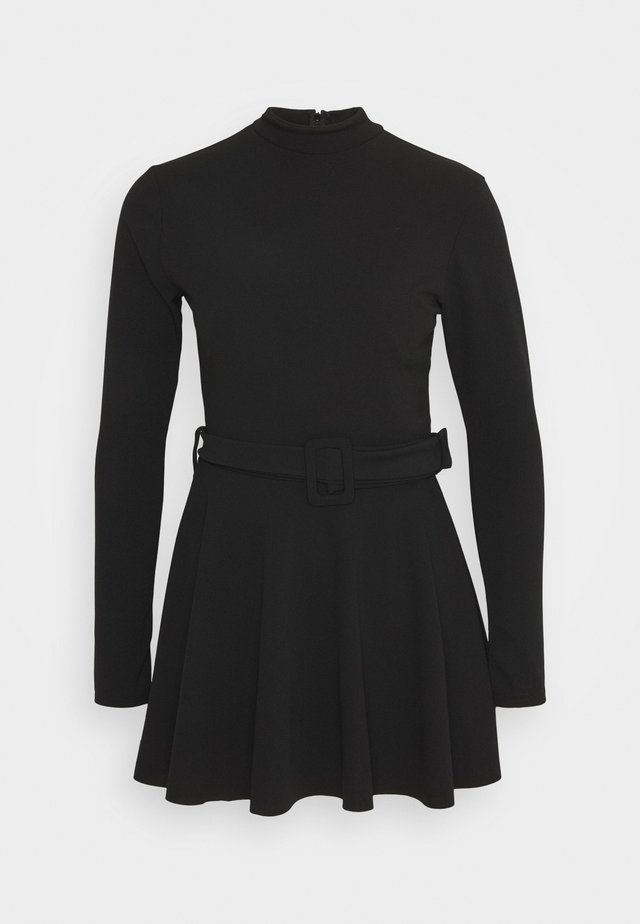 HIGH NECK SKORT PLAYSUIT - Jerseyjurk - black