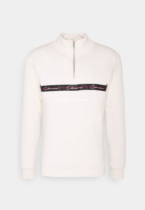 TAPED HALF ZIP FUNNEL NECK - Sweatshirt - off white