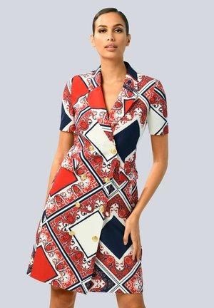 Day dress - marineblau/rot/weiß