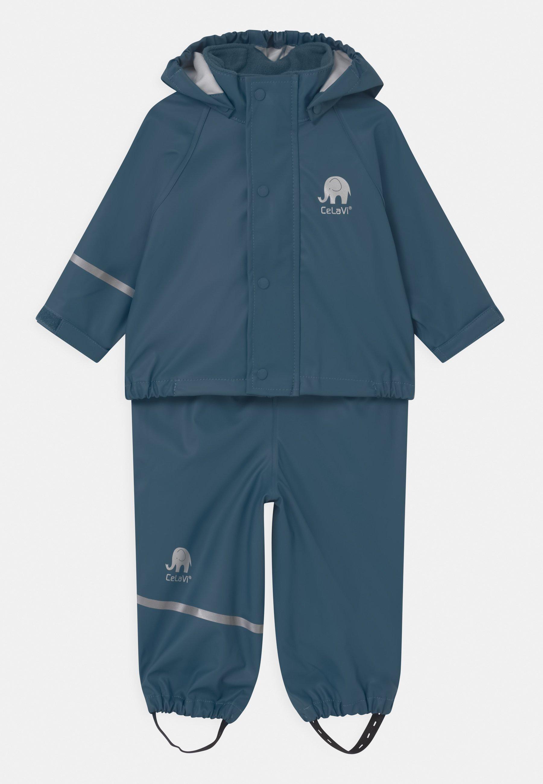 Enfant BASIC RAINWEAR SOLID SET UNISEX - Pantalon de pluie - iceblue
