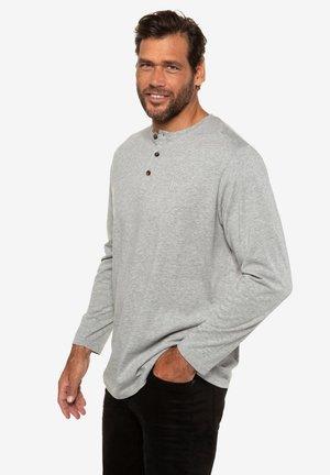 KNOP - Long sleeved top - gray melange