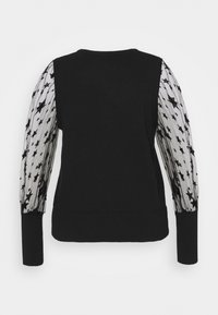 Simply Be - PLEAT SLEEVE JUMPER WITH STARS - Svetr - black - 1