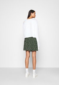 Even&Odd - A-line skirt - white/green - 2
