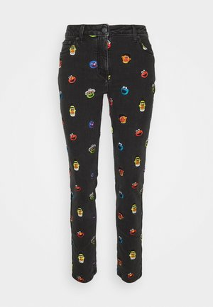 SESAME STREET TROUSERS - Jeans Tapered Fit - black