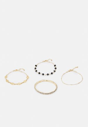 FGKLOVI BRACELET 4 PACK - Armbånd - gold-coloured/black/clear