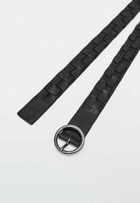 Massimo Dutti - Braided belt - black - 3