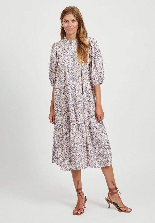 3/4 SLEEVE - Shirt dress - cloud dancer
