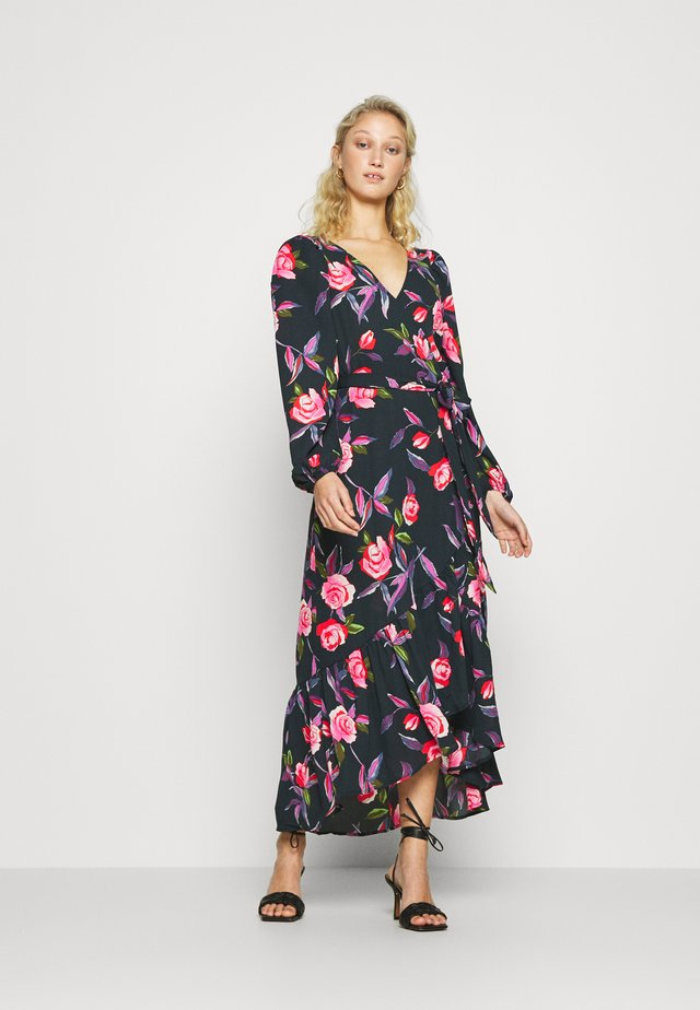 MAXI WRAP DRESS - Vestito lungo - black