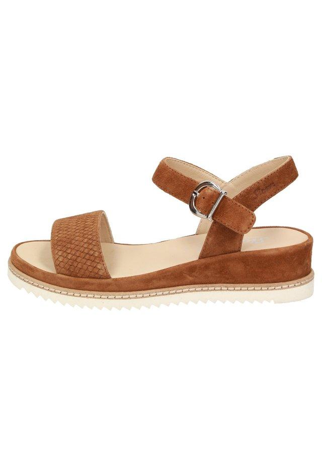 ACHARA - Sandals - braun