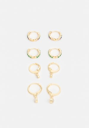 PCZALIKA EARRINGS 4 PACK - Korvakorut - gold-coloured/multi
