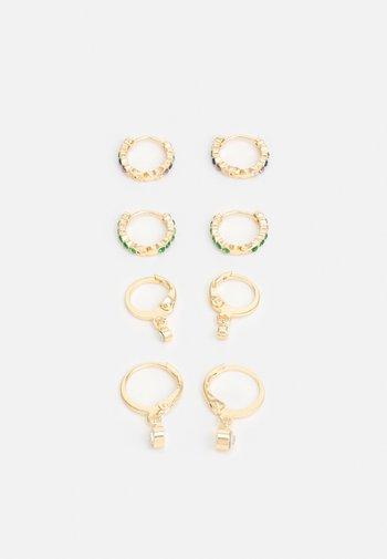 PCZALIKA EARRINGS 4 PACK - Korvakorut - gold-coloured/multi