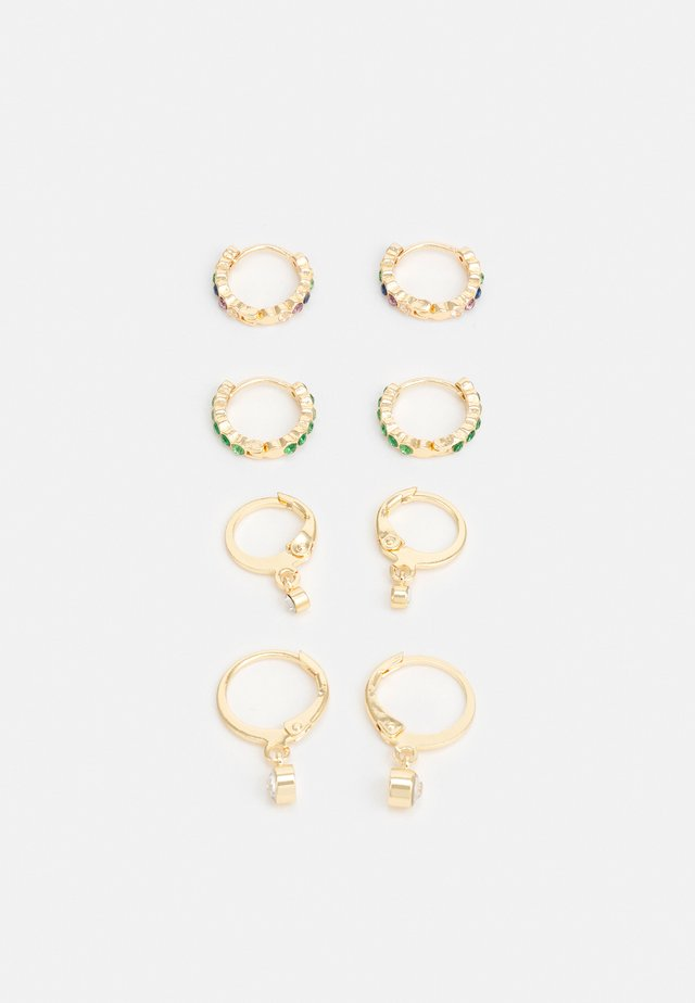 PCZALIKA EARRINGS 4 PACK - Øredobber - gold-coloured/multi