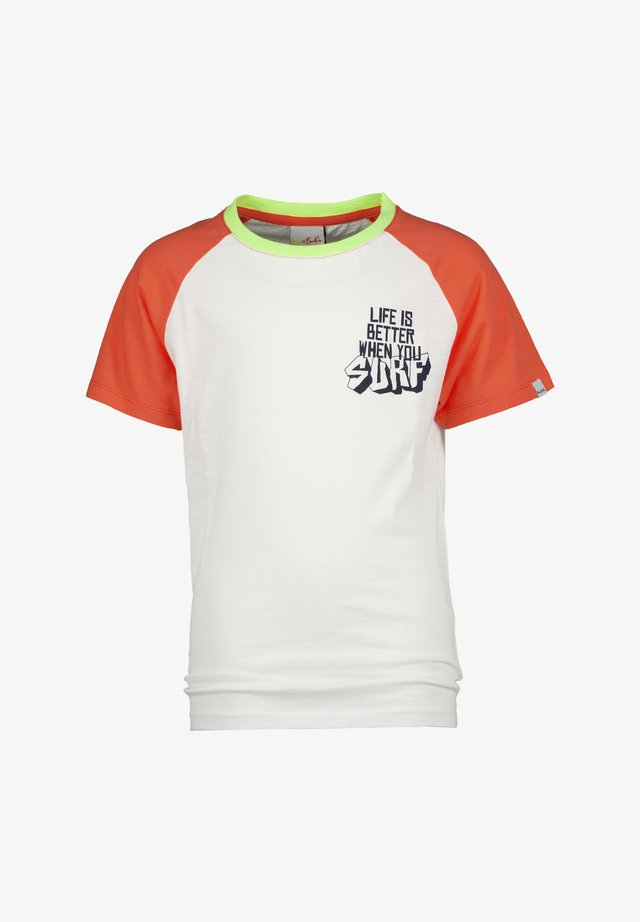 T-shirt con stampa - real white