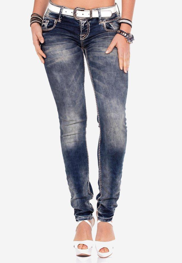 Slim fit jeans - donkerblauw