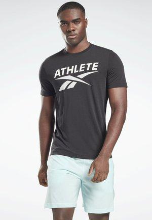 ATHLETE VECTOR GRAPHIC T-SHIRT - T-shirts print - black