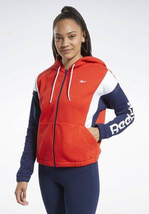 TRAINING ESSENTIALS LOGO HOODIE - Zip-up hoodie - red