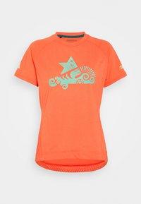 Zimtstern - PUREFLOWZ - Print T-shirt - living coral/florida keys - 5