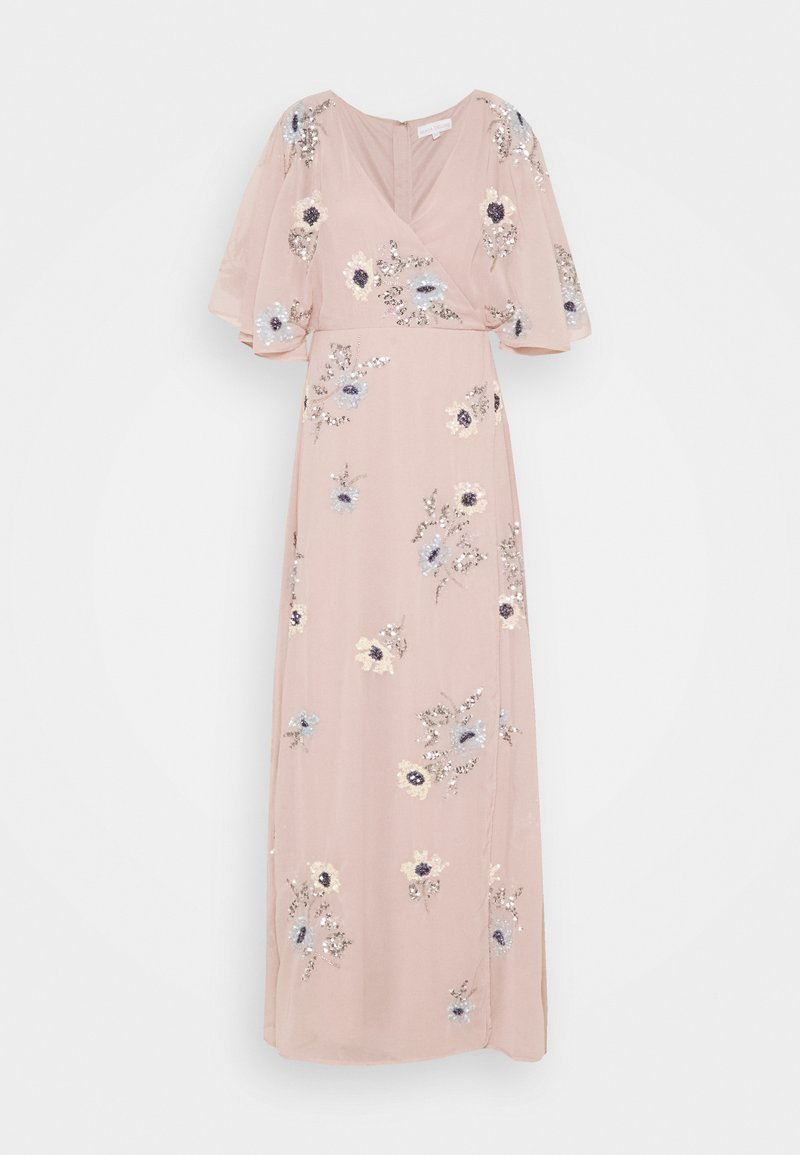 Maya Deluxe - KIMONO FLORAL EMBELLISHED WRAP DRESS - Maxi šaty - frosted pink