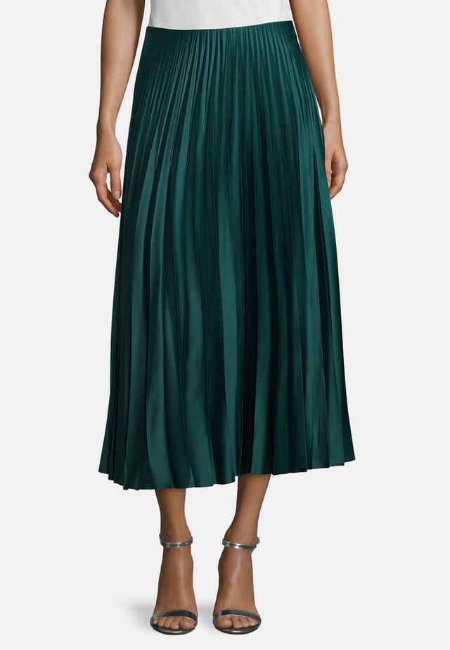 MIT COLOR BLOCKING - A-line skirt - green jungle