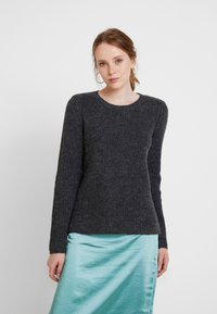 Vila - Jumper - dark grey melange - 0