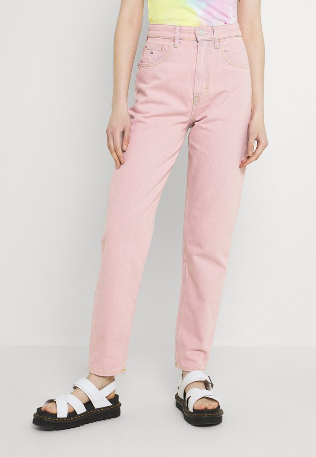MOM ULTRA - Džíny Relaxed Fit - pink daisy