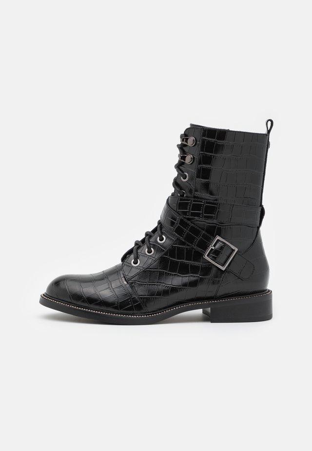 GEORGINNA - Lace-up ankle boots - noir