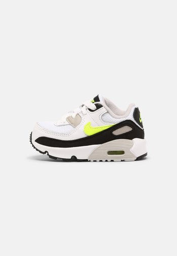 AIR MAX 90 LTR TD UNISEX - Trainers - white/hot lime/black/neutral grey