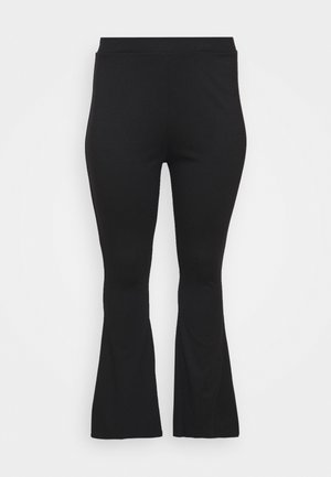 SEMI FLARED - Leggings - Trousers - black