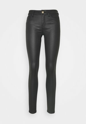 NMLUCY COATED PANTS - Jeans Skinny Fit - black