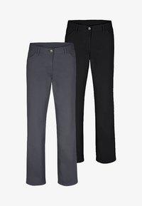 Jan Vanderstorm - TEJA 2 PACK  - Trousers - black/grey - 0