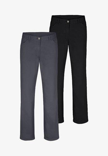 TEJA 2 PACK  - Trousers - black/grey