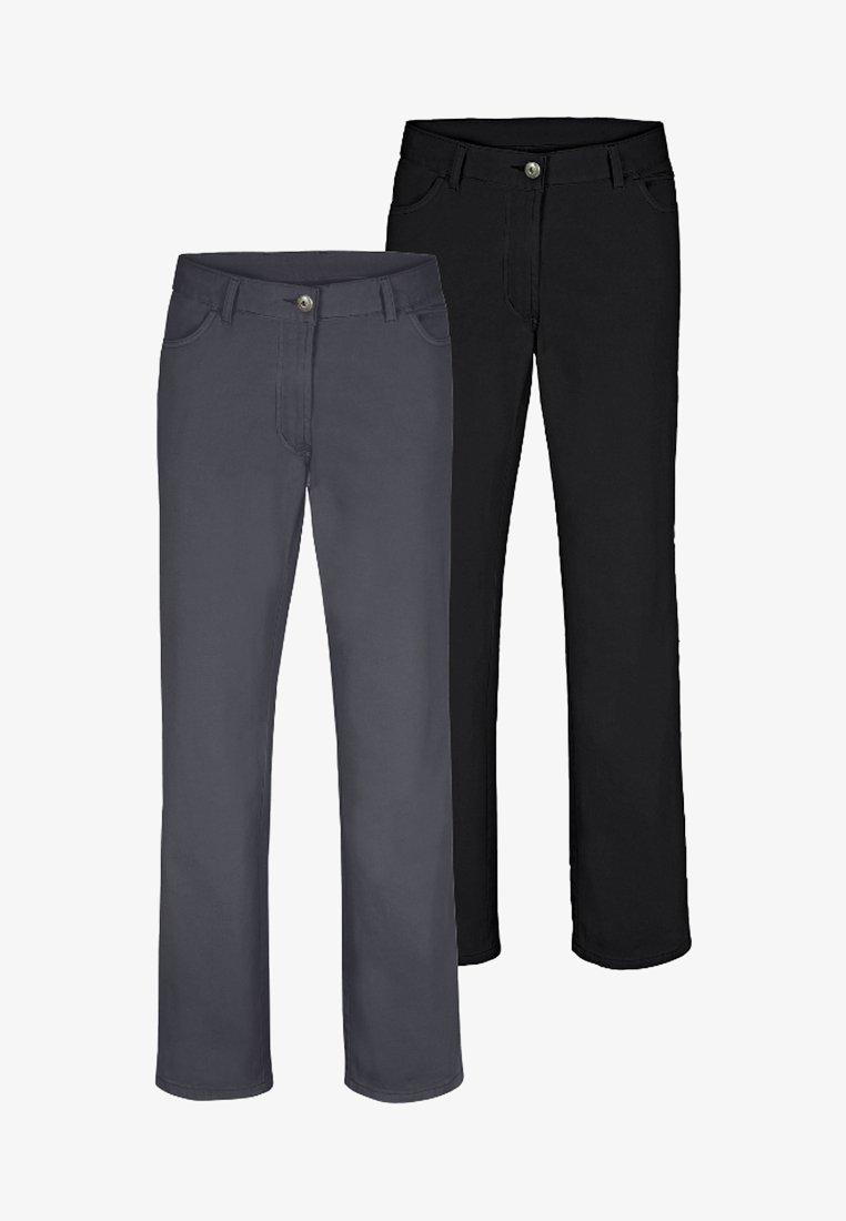 Jan Vanderstorm - TEJA 2 PACK  - Trousers - black/grey
