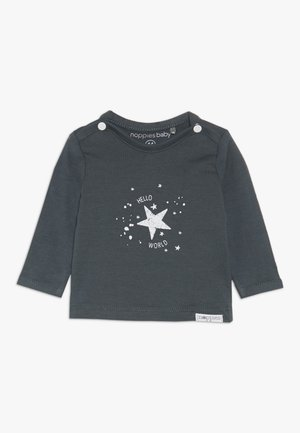 TEE LUX TEKST - Long sleeved top - dark grey