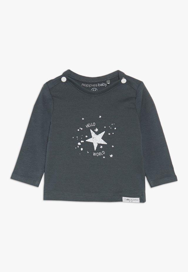 TEE LUX TEKST - Long sleeved top - dark grey